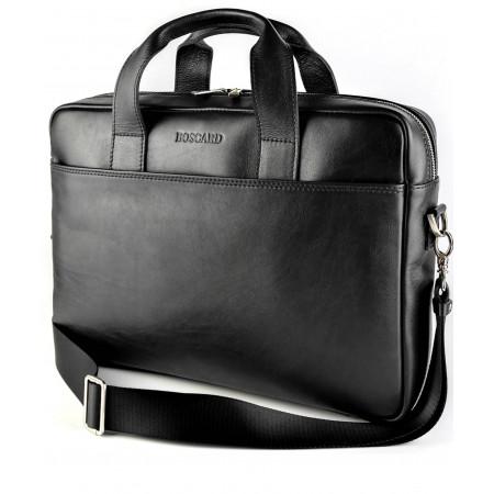 Кожаная мужская сумка для документов и ноутбука BOSCARD (br30black)