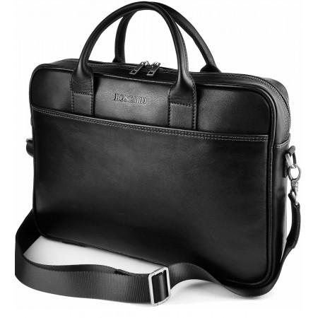 Кожаная мужская сумка BOSCARD черная (br31black)