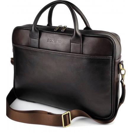 Деловая кожаная мужская сумка BOSCARD (br31brown)