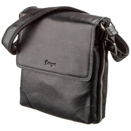Мужская сумка из натуральной кожи KARYA c клапаном (KY07286black)