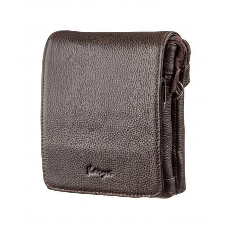 Мужская сумка из кожи KARYA коричневая (KY07362brown)