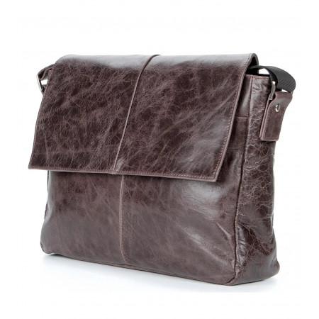 Мужская сумка Shvigel в винтажном стиле (SH0799brown)