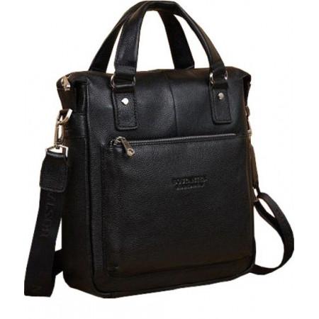 Кожаная мужская сумка с ручками Bostanten (bs0104-1black)