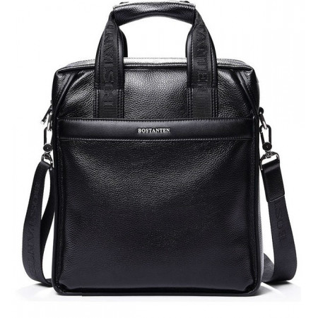 Мужская сумка из кожи черная Bostanten (bs0111-1black)
