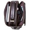 Кожаная сумка мужская коричневая через плечо Contact's (cs0205brown)
