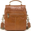Качественная мужская сумка барсетка на плечо Contact's (cs0215-2brown)