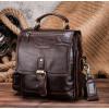 Кожаная мужская сумка барсетка Contact's (cs215brown)