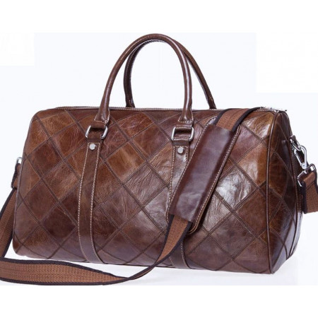 Дорожная кожаная мужская сумка Franco Rossi (bsc0301brown)