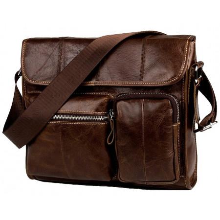 Кожаная сумка для мужчины коричневая Franco Rossi (fr0005brown)