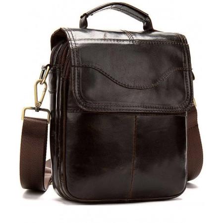 Мужская сумка барсетка на плечо с клапаном Franco Rossi (fr00N10brown)