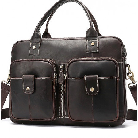 Кожаная сумка для делового мужчины Franco Rossi (fr00N15brown)